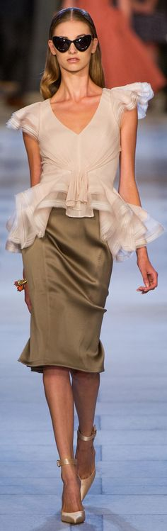Romantic & sexy. One of those things that doesn't show much flesh but provokes imagination. Zac Posen S/S 2013