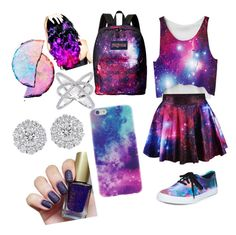 """""""Galaxy dream"""" by gabi-diego on Polyvore featuring Vans, JanSport and Leg Avenue"""