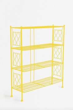 Yellow Brimfield Bookcase at Urban Outfitters