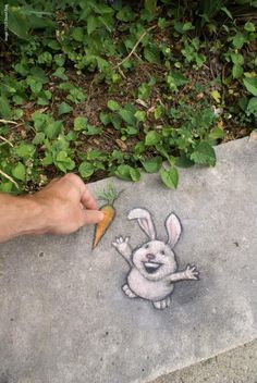 STREET ART UTOPIA » We declare the world as our canvasChalk Art by David Zinn in Michigan, USA » STREET ART UTOPIA