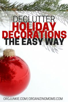 Declutter Christmas decorations the easy way. Get ready for the holiday season with these easy-to-implement steps. Organize Christmas decorations and enjoy the season! Christmas Planning, Christmas Holidays, Christmas Bulbs, Christmas Crafts, Christmas Decorations, Christmas Ideas, Winter Holiday, Holiday Ideas, Organized Mom
