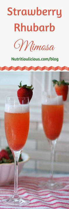 from nutritioulicious stfi re strawberry rhubarb mimosa a light and ...