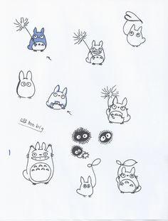 Love the small Totoro with the leaf in the bottom right corner. Ich liebe den kleinen Totoro mit dem Blatt in der unteren rechten Ecke. Tatuaje Studio Ghibli, Studio Ghibli Tattoo, Studio Ghibli Art, Tattoo Studio, Miyazaki Tattoo, Mini Tattoos, Body Art Tattoos, Small Tattoos, Tatoos