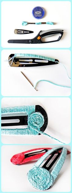 diy hair clip makeover via the gilded hare