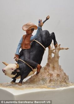 Cowboy on Bull cake by Sylvia Weinstock...