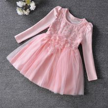 Wholesale 5pcs/lot Children Toddler dress, flowers pearls baby girls dress,christmas dress,kids clothes Ball Gown 3-9T pink(China (Mainland))