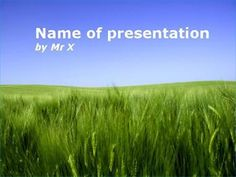 Peaceful Green Field Powerpoint Presentation Template