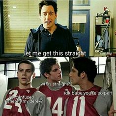 Let me get this straight... -WTF is straight?? #tw #sterek #scisaac// tbh scisaac is my guilty pleasure I LOVE scott and allison but like scott and isaac are so cute too :c