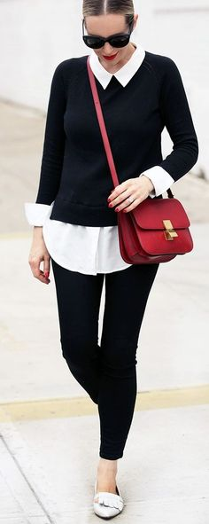Black And White + Pop Of Red                                                                             Source
