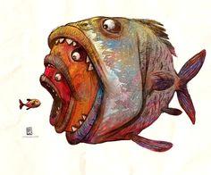 F.EAT Art Print by Nikola Radovic