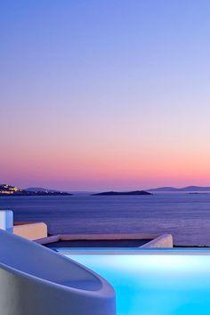 The Blue Hour in Mykonos, Greece