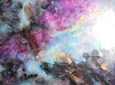 Galaxy Art Alcohol Ink Art Abstract Wall Art Fine Art