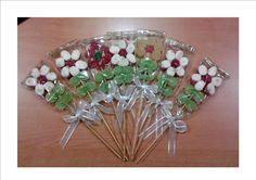 brochetas flores chuches