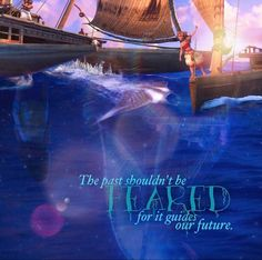 """The past shouldn't be heard, for it guides out future."" #moana #disney #disneyquotes #moviequotes #quote"