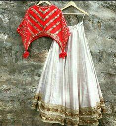 Buy Off White Silk Lehenga Choli Online Choli Designs, Lehenga Designs, Saree Blouse Designs, Indian Designer Outfits, Indian Outfits, Lehnga Dress, Saree Gown, Silk Lehenga, Lehenga Choli Online