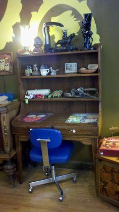 Antique Desk with shelves