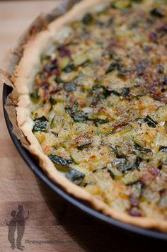 Quiche au confit de courgettes et au parmesan | Piratage Culinaire