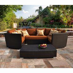 Sirio Batavia 6-piece Outdoor Furniture Set with 6 Pillows | Overstock.com