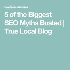 5 of the Biggest SEO Myths Busted | True Local Blog