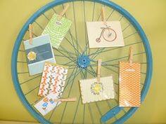 Bike wheel recycled