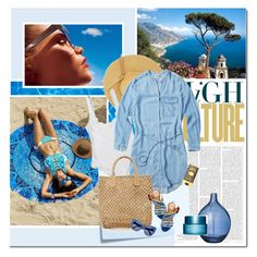 """""""Smell like the sea"""" by undici ❤ liked on Polyvore featuring Post-It, Hat Attack, Dsquared2, STELLA McCARTNEY, Bloomingville, Clarins and Forever 21"""