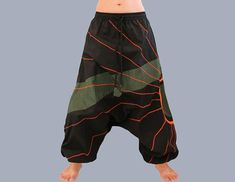 Women's Clothing Pants United Erc121 Gypsy Hippie Aladdin Baggy Genie Hammer Tribal Trouser Women Menpants Pretty And Colorful