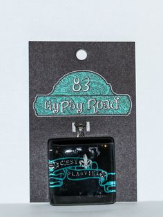 MS 49  Glass Pendant  C'est La Vie by 83GypsyRoad on Etsy