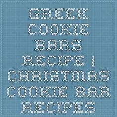 greek cookie bars recipe | christmas cookie bar recipes