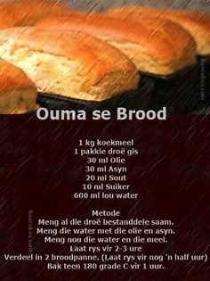 Grandma's bread | Ouma se brood ♥ #SouthAfrican