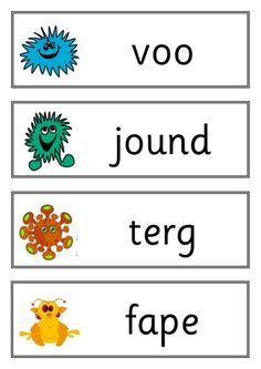 Y1 Phonics Screening Practise: New words