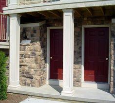 Pictures square Fiberglass Porch Columns - Commercial Columns