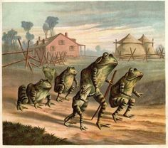 """nemfrog: """" On the road. Discontented frogs. 1880. """""""