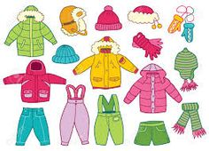 Collection of winter children's clothing (vector illustration) Body Parts Preschool, Winter Outfits, Kids Outfits, Shape Crafts, T Shirt Image, Winter Kids, Classroom Fun, Living At Home, Art For Kids