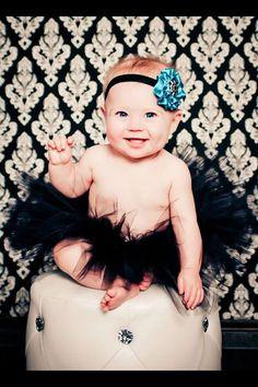 Vintage Black Tutu Newborn Tutu with a matching by EllaBooCouture, $22.00