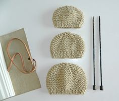 free pattern preemie knit hats newborn knit hat Best Picture For stricken babydecke For Your Taste Y Baby Hat Knitting Patterns Free, Baby Hat Patterns, Baby Hats Knitting, Free Knitting, Free Pattern, Newborn Knit Hat, Newborn Hats, Newborns, Knitting For Charity
