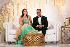 Indian Bride and Groom Reception Portrait http://www.maharaniweddings.com/gallery/photo/84101