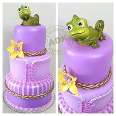 Tangled cake - Bolo Enrolados