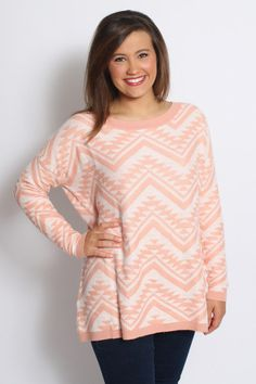 Comfy Cozy Sweater: Peach