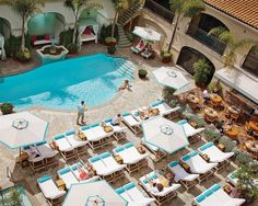 Pool at the Beverly Wilshire