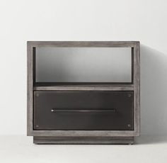 RH TEEN's Colbin Open Nightstand:Recalling the sturdy, utilitarian designs of industrial storage chests, our Colbin collection features sleek steel drawers, updated with a stout wood frame for a modern edge.