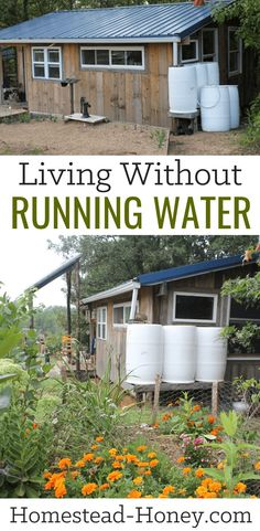 While creating a homestead from scratch on raw land, we have been living without running water for more than five years. Wondering what that looks like for a family with young children? How we stay clean and how we cook and drink? Read on! Off Grid Homestead, Homestead Farm, Homestead Survival, Wilderness Survival, Homestead Living, Survival Shelter, Homestead Apartment, Survival Food, Outdoor Survival