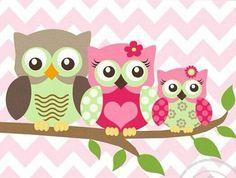 Sevimli baykus ailesi:))