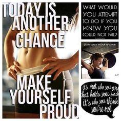Oggi è un'altra occasione per migliorarti! Rendi te stesso/a orgoglioso/a! #fitmotivation#fitness#wellness#training#youcandoit#noexcuses