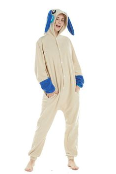 98a6c8946b Unisex Adults Plus Blue Rabbit Animal Cartoon Pajamas Xmas Costume