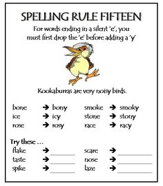 Part 2 Spelling Rules - Test how much you know about these rules. Print these, save them and practice! Improve spelling skills here. Order your High Frequency books here Improve spelling skills here. Order your High Frequency books here Phonics Rules, Spelling Rules, Spelling Practice, Spelling Bee, Spelling Activities, Grammar Rules, Teaching Phonics, Spelling And Grammar, Teaching Reading