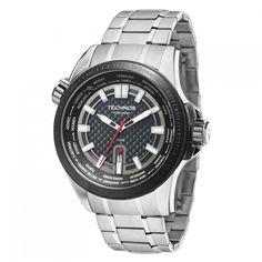 53b9eb57c5a Relógio Technos Masculino Hora Mundi Sport Carbon 2115KNU 1K