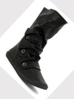 boots+for+women   Flat black boots for women: