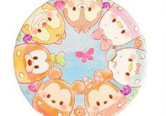 Disney Theme, Disney Pins, Cute Disney, Disney Art, Walt Disney, Tsum Tsum Wallpaper, Cute Animal Illustration, Shrink Art, Tsumtsum
