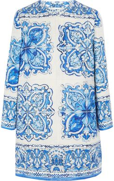 Dolce & Gabbana Printed Cotton and Silk-Blend Brocade Coat