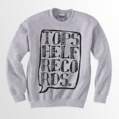 Topshelf Records - Logo Crewneck Sweater $20